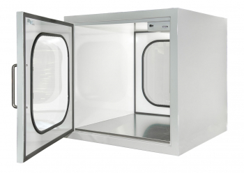 mecart pass-through for cleanroom stainless steel bottom