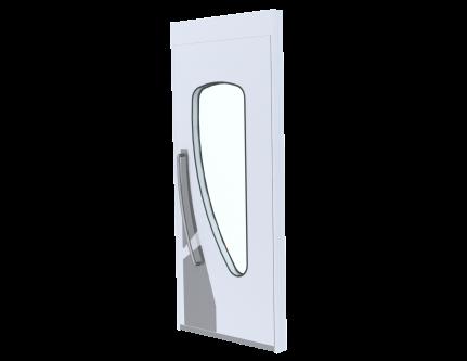 tear drop shape door for cleanroom