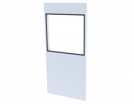 cleanroom flush window square