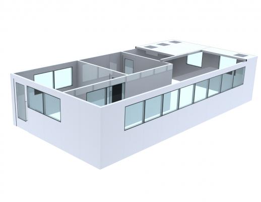 modular cleanroom panel system