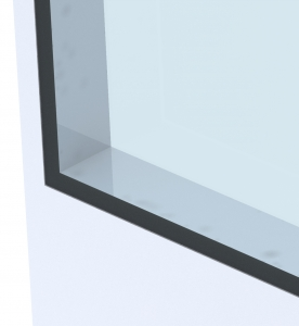 window panel cleanroom full flush