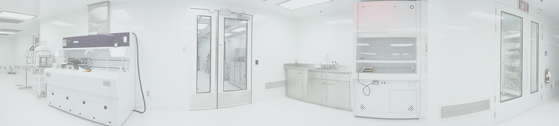 modular clean room interior