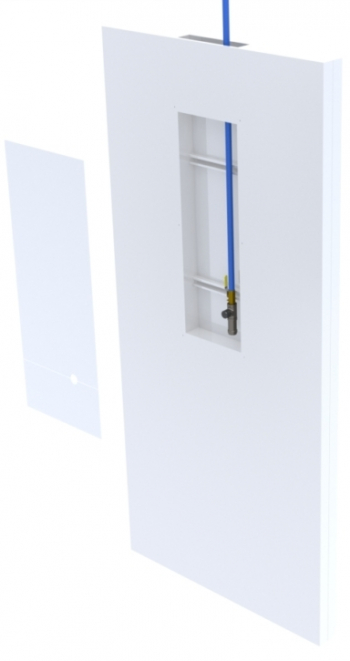 integrated utilities in a modular cleanroom wall panels system