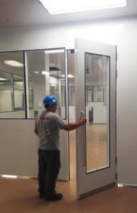 oversized door 110 inches cleanroom