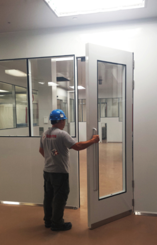 oversized door 110 inches cleanroom