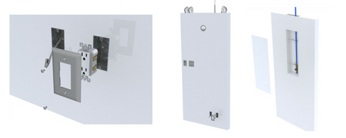 Cleanroom panels with integrated utilities