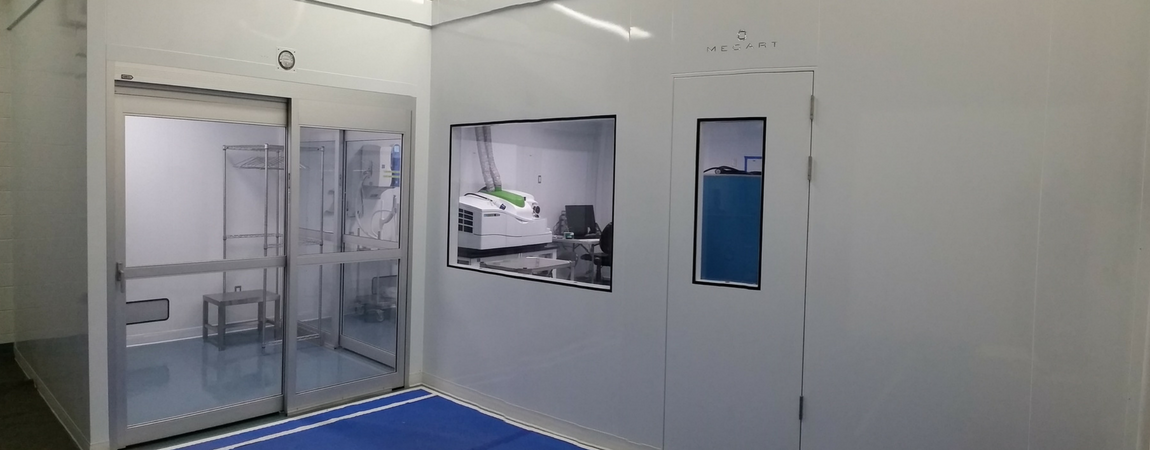 iso 7 cleanroom chemical analysis room