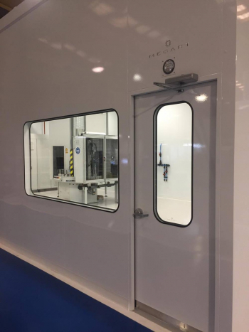 mecart cleanroom door outside view