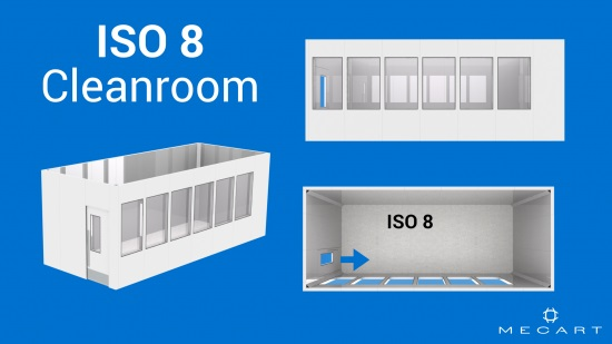 ISO 8 clean room layout