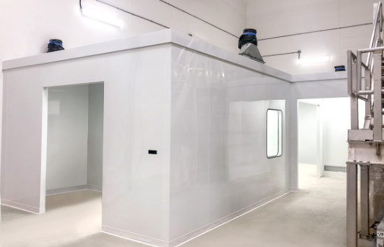 ISO 7 Cleanroom for Nutraceutical Industry - 550 x 354 - cabin