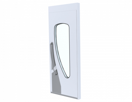 tear drop shape door for cleanroom