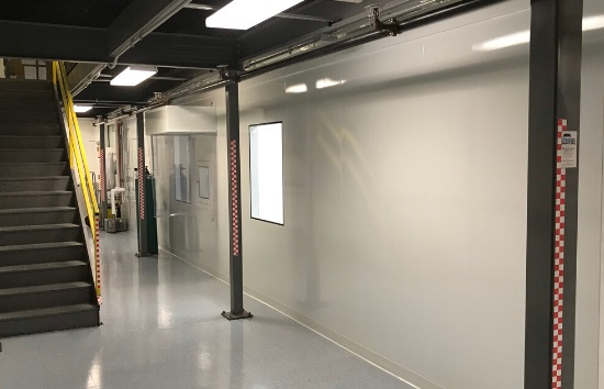 Cell Processing Lab - 550 x 354 - Cleanroom -outside walls
